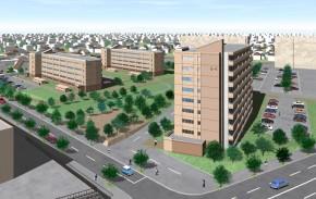公営住宅(下野幌団地E-2号棟)